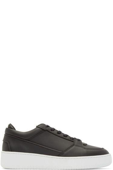 ETQ Amsterdam - Black Leather Virtus Low 3 Sneakers