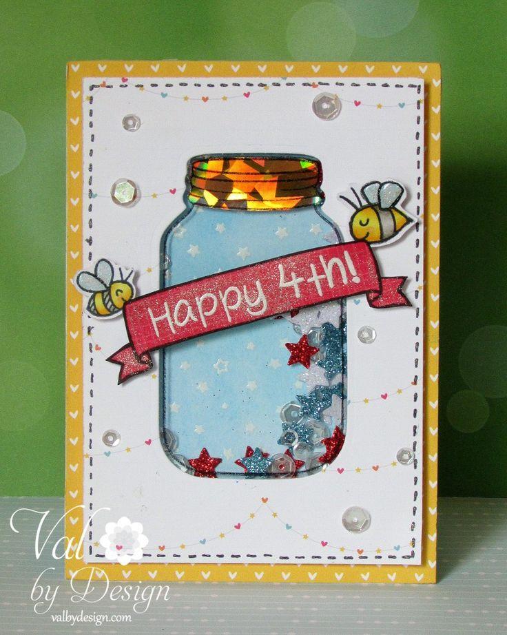 Lawn Fawn - July 4th card
