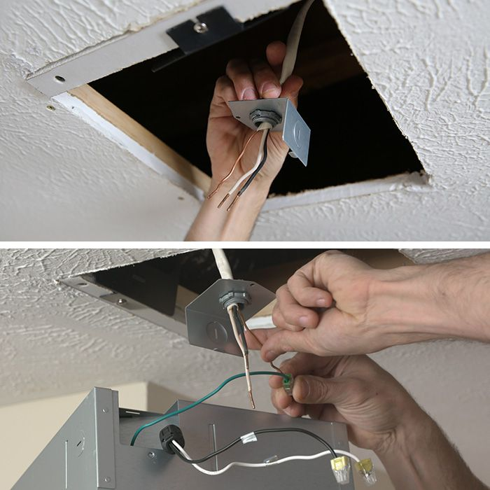 Connecting The Electrical For The Bathroom Fan Replacement