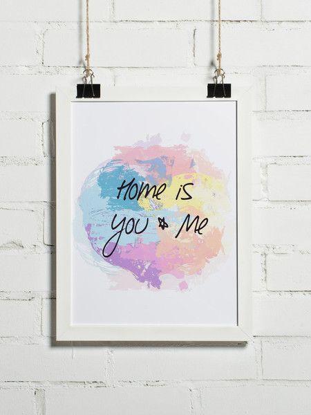 Plakat - HOME is You & Me 30x40 cm (+inne f... - BonzooBox - Plakaty typograficzne