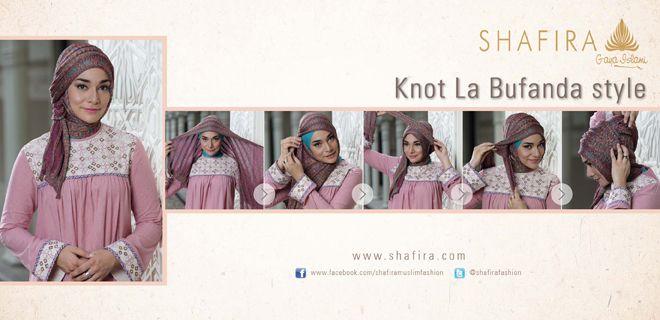 Hijab Tutorial Long Scarf Knot La Bufanda Style
