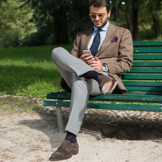 "The Bespoke Dude @Fabioattanasio wearing ""Innamoràa"", our #doublemonks in brown #suede leather available online at www.velasca.com. Link in profile to #shop.  #velascamilano #madeinitaly #shoes #shoesoftheday #shoesph #shoestagram #shoe #fashionable #mensfashion #menswear #gentlemen #mensshoes #shoegame #style #fashion"