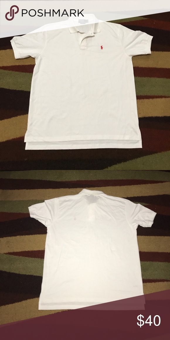 Ralph Lauren Polo 👕 Shirt Ralph Lauren White Polo 👕 Shirt with Red Embroidery on chest Tag Ripped off but Shirt is New and Never Worn💯 Polo by Ralph Lauren Shirts Polos