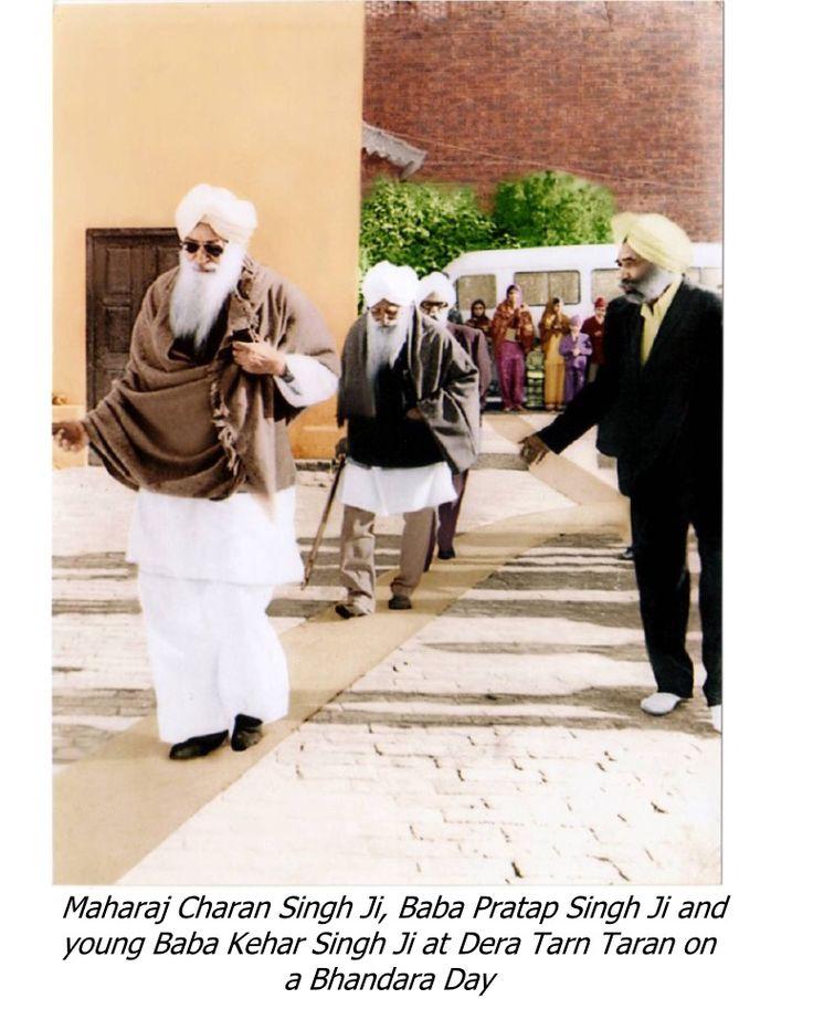 baba pratap singh ji and maharaj charan singh ji at tarn taran