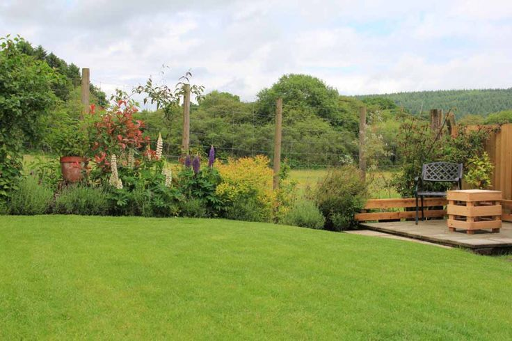 Garden with a view in the Forest of Dean