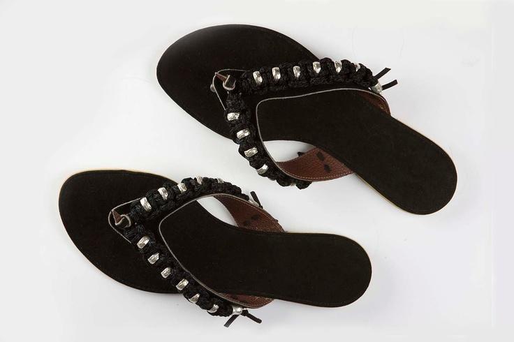 Jeweled leather sandal Cruising