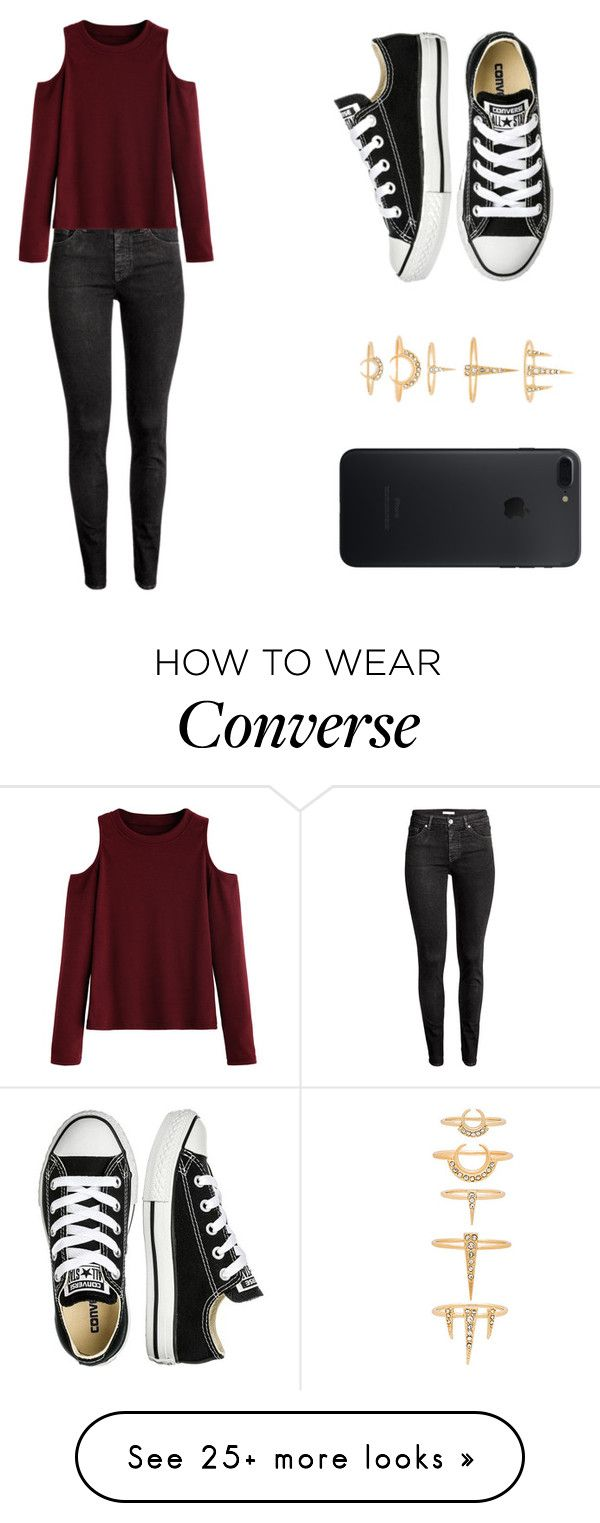 """Untitled #188"" by mindongalsxy on Polyvore featuring H&M, WithChic, Converse and Luv Aj"