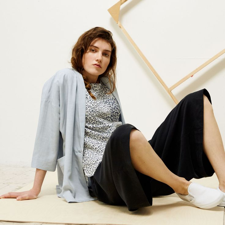 This Relaxed Cupro Jacket is our luxe-take on the downtime jacket
