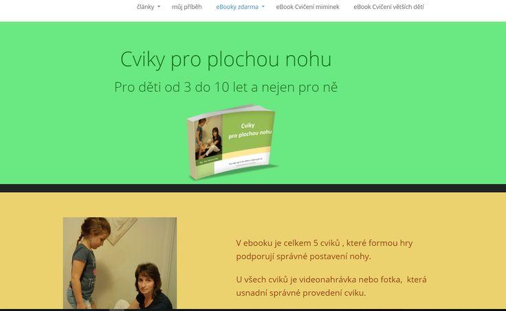 Jana Tůmová a její ebook ZDARMA: Cviky pro plochou nohu