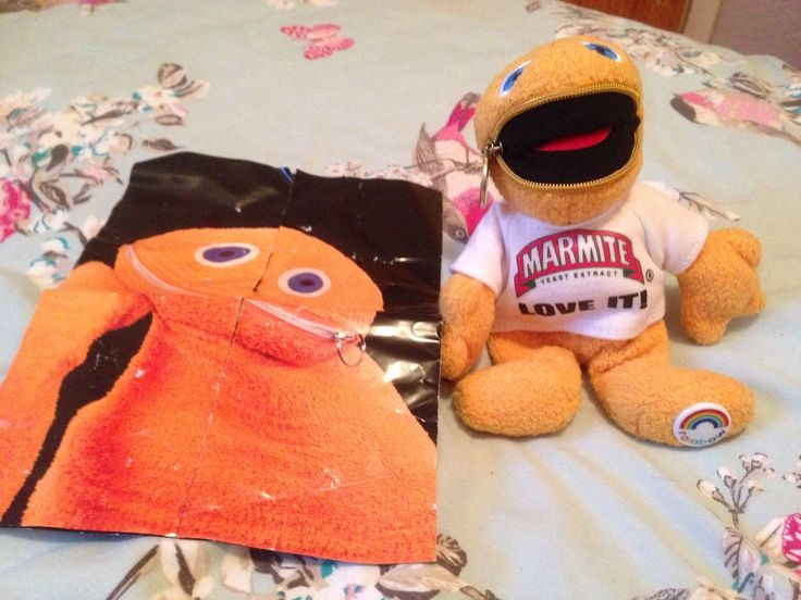 Marmite Zippy with leaflet (front)