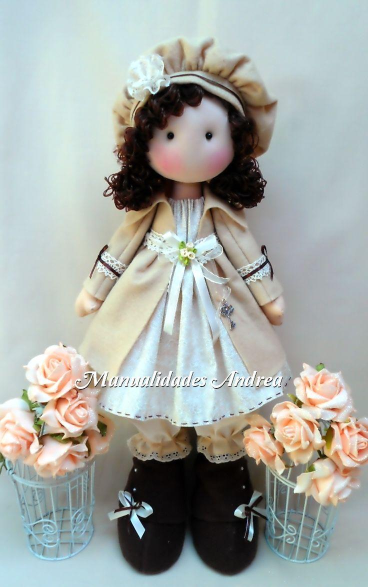 boneca com tranças de lã