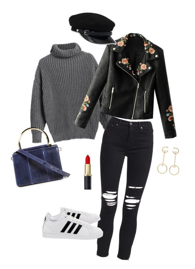 """""""rock it"""" by nita-b-sk on Polyvore featuring AMIRI, adidas, Salvatore Ferragamo, WithChic and Chloé"""