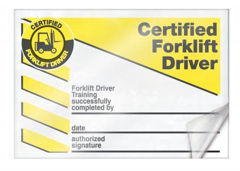 Wallet card forklift forklift industrial truck for Forklift licence template