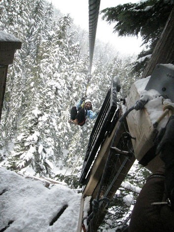 Zip lining in Whistler, Canada