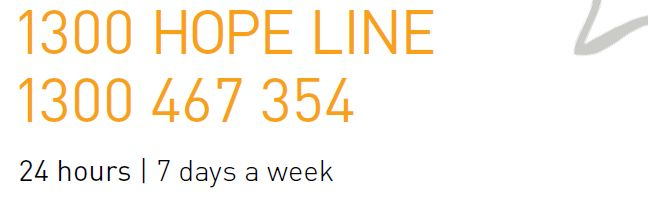 National Hope Line provides 24 hour hot line for anyone that has lost a loved one by suicide.