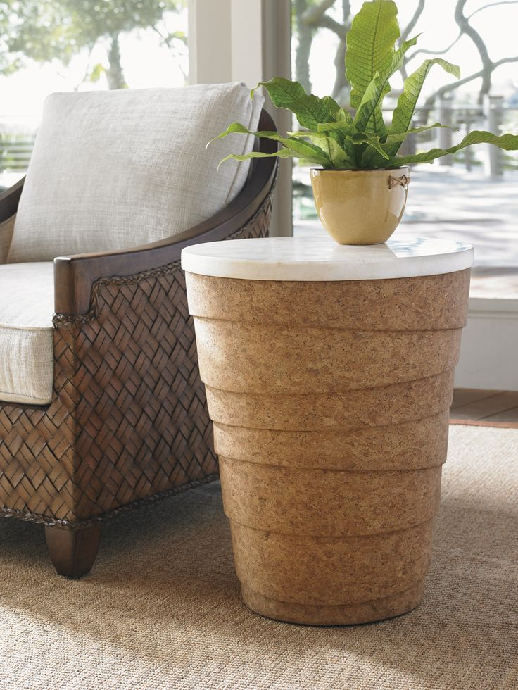 Island Fusion Cork And Marble Accent Table | Tommy Bahama Home #CoastalChic