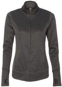 Image of Yoga Clothing For You Ladies Lightweight Performance Jacket, XL Dark Grey Heather