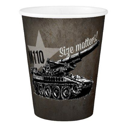 M110 Self Propelled Artillery Paper Cup - home gifts ideas decor special unique custom individual customized individualized