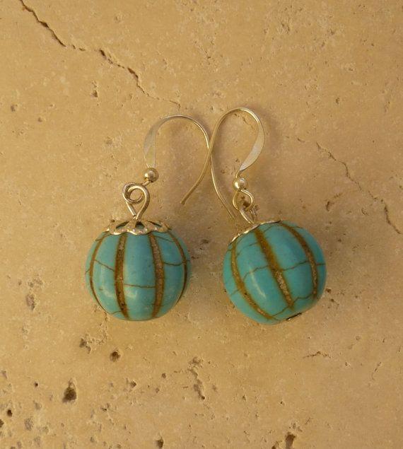 Gorgeous Turquoise Earrings Feminine and by ShawlsandtheCity, $14.00