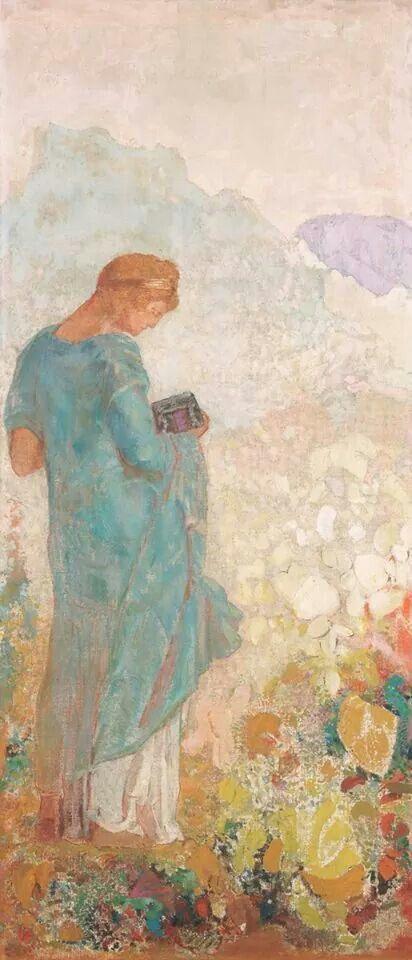Pandora, 1910-12 Odilon Redon (French, 1840-1916)