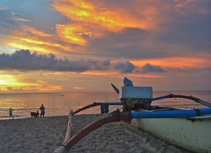 Sunset over Jimbaran beach, spot close to The Open House Bali.