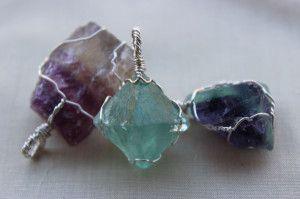 fluorite pendants