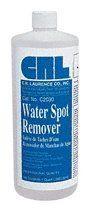 CRL Water Spot Remover - Quart by C.R. Laurence. $17.69. CRL Finally Solves the Problem of Water Spotting From Sprinklers, Hard Water Sources and Exposure to Acid Rain. Available in Gallon and Quart Sizes. Removes Alkaline Residue, Chemical and Mineral Deposits From Uncoated Clear and Float Surfaces (Typical Stage I Corrosion).   CRL Water Spot Remover is specifically formulated for use by professional window cleaning contractors and glazing professionals. It is designed to rem...