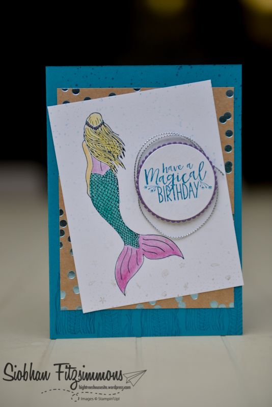 Stampin Up! Magical Mermaid - Stampin Up! Annual Catalogue 2017/18 - Paper Adventures Team blog hop - High Trees House - Mermaid
