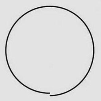 Unclosed circle. Not everything needs to be perfect.