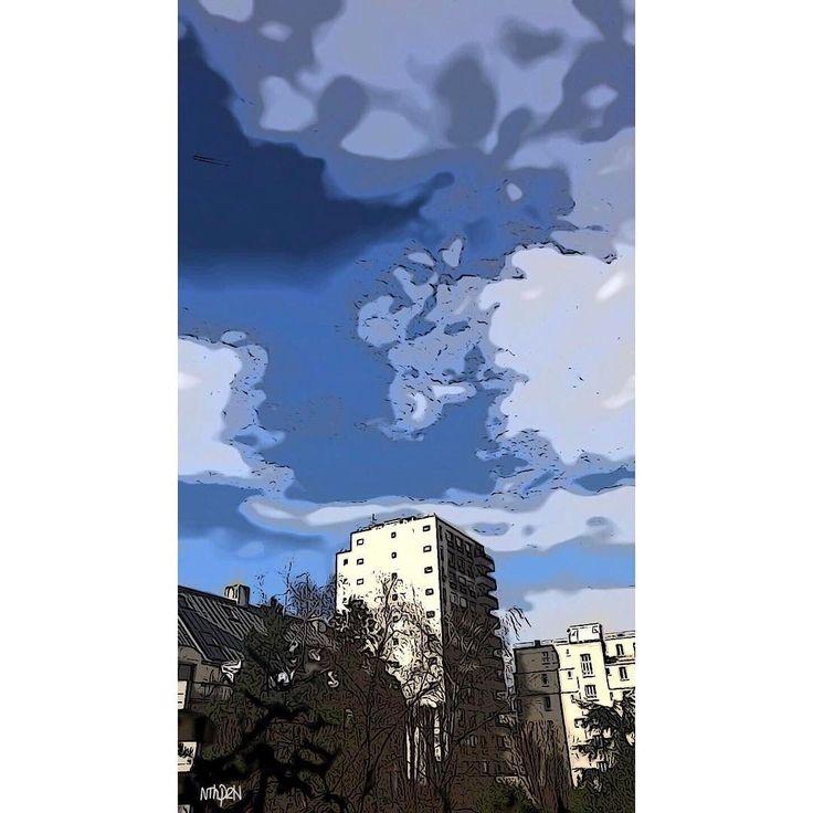 tourmente façon carte météo  #iphoneonly #iphoneographer #skylover #toon #tooncamera #fevrier2017 #DepuisUnBalcon #citytrip #iphone7plus