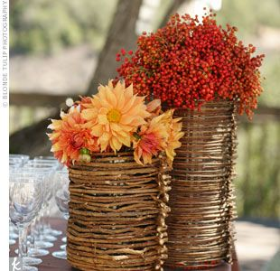 Natural center piece ideas: Decor Ideas, Fall Flowers, Autumn Flowers, Fall Table, Fall Decor, Wedding Ideas, Wedding Centerpieces, Fall Wedding, Center Pieces