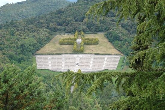 Monte Cassino war cemetery in Italy