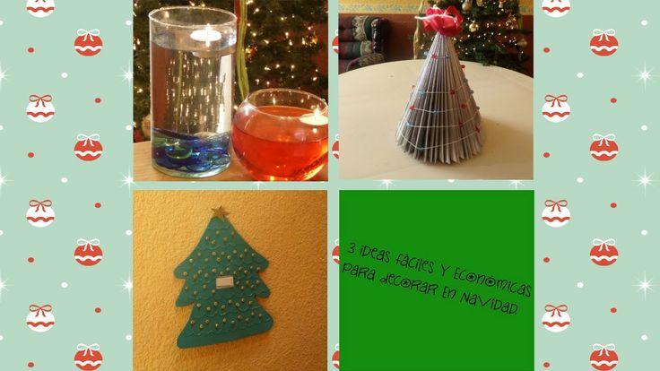 3 Decoraciones Fáciles y Económicas para Navidad :)