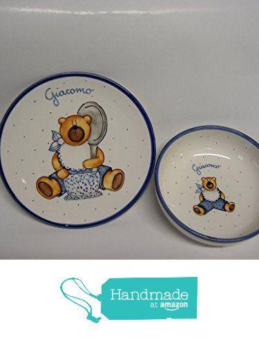 Piatto con ciotola ceramica da LA BAMBOCCIATA SNC https://www.amazon.it/dp/B06Y1Q7W1L/ref=hnd_sw_r_pi_dp_DnM5yb8VY7MQN #handmadeatamazon