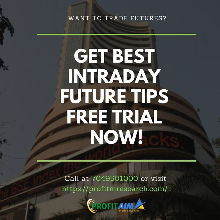 Get Free Trial for Intraday Future Trading