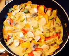 Rezept Gemüsepfanne mit Kokos-Currysoße von S1712 - Rezept der Kategorie Hauptgerichte mit Gemüse