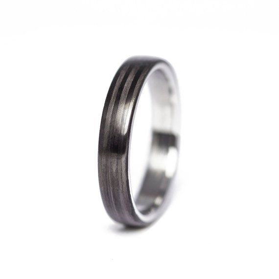 Carbon Fiber And Stainless Steel Ring Stainless Steel Etsy Stainless Steel Wedding Bands Stainless Steel Rings Engagement Rings For Men