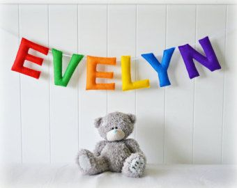 Personalized felt name banner - name garland wall art - Nursery decor - MADE TO ORDER