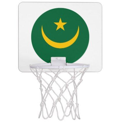 #Mauritania Flag Mini Basketball Backboard - #country gifts style diy gift ideas