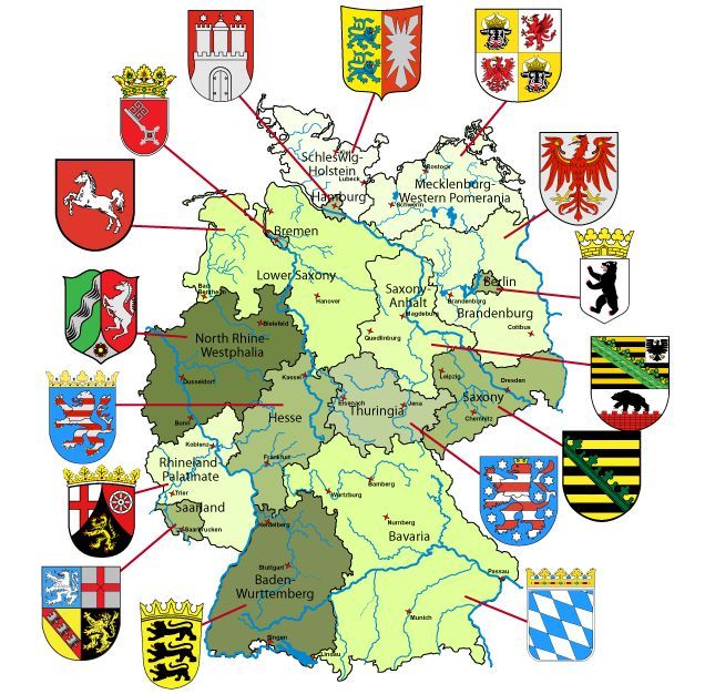 Map of Germany with links to each state and within each state you will find castles and a brief history