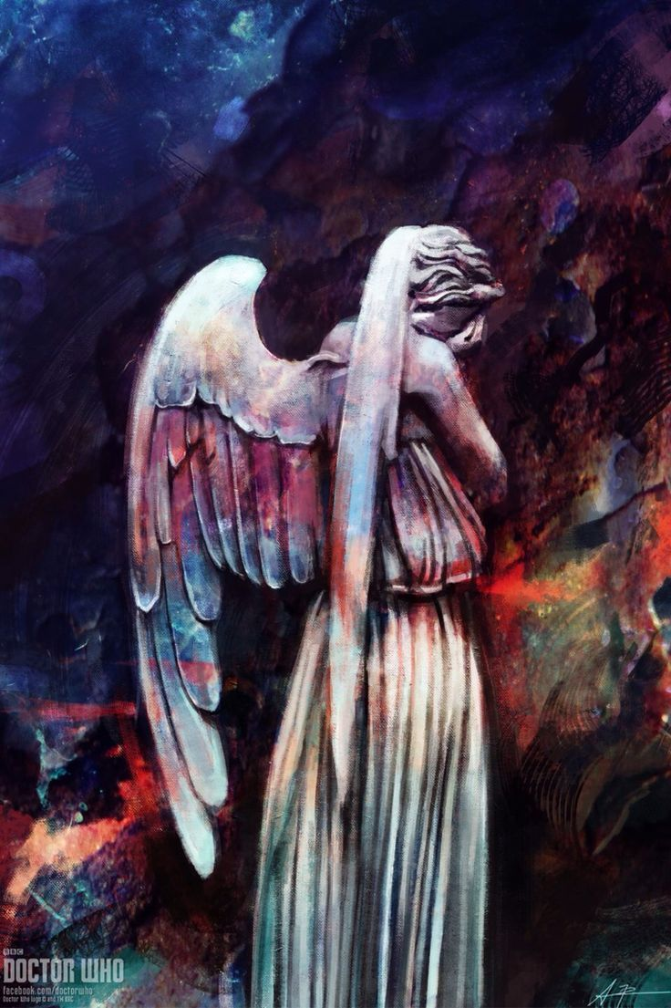 Doctor who weeping angel phone wallpaper idk if I could have this on my phone