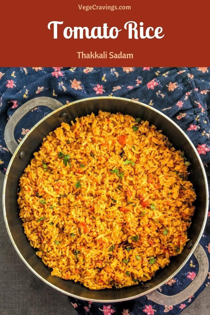 Tomato Rice Recipe Thakkali Sadam Vegecravings Recipe Tomato Rice Indian Rice Recipes Tomato Rice Recipe South Indian