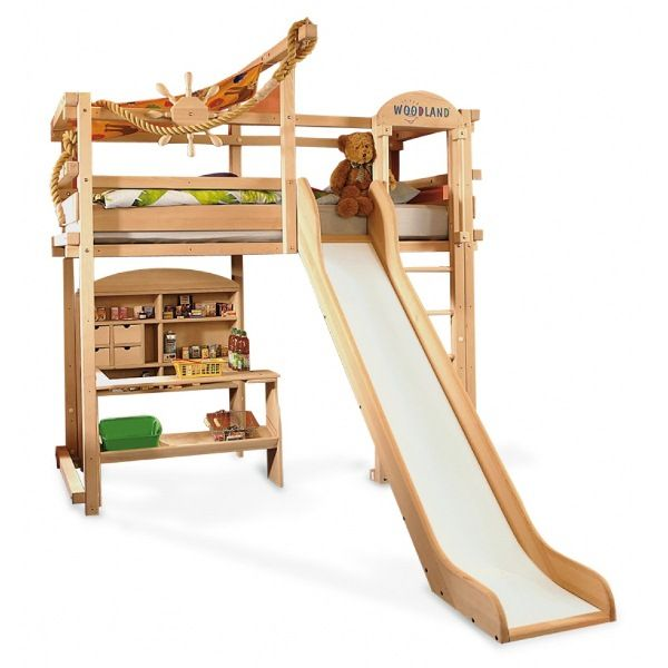woodland kids loft and bunk beds awesome winnipeg woodland kids loft bed design with playful slide and desk storage undernea