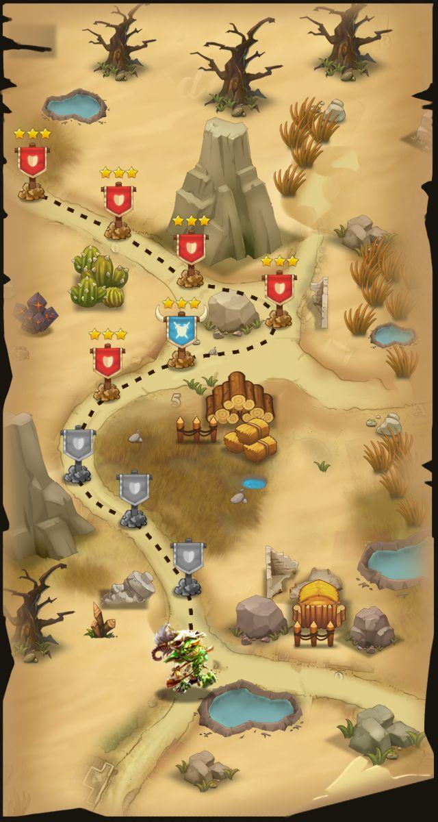 【卡牌游戏地图】设计系列-游戏原画-插画...