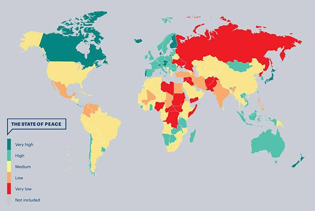 Iceland Is Officially the Most Peaceful Country on Earth - If you're worried about traveling, just remember: the U.S. doesn't even crack the top 100.