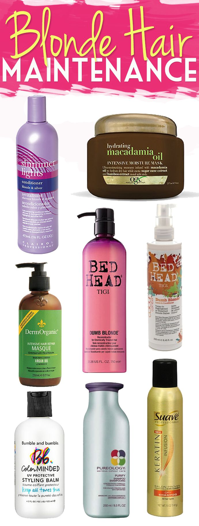 How To Maintain Blonde Hair! Tips & Tricks just for you! What products should you be using & how often to use them. #hair #beauty #blondehair