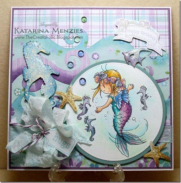 LOTV - Little Mermaid 2 - http://www.liliofthevalley.co.uk/acatalog/Stamp_-_Little_Mermaid_2.html