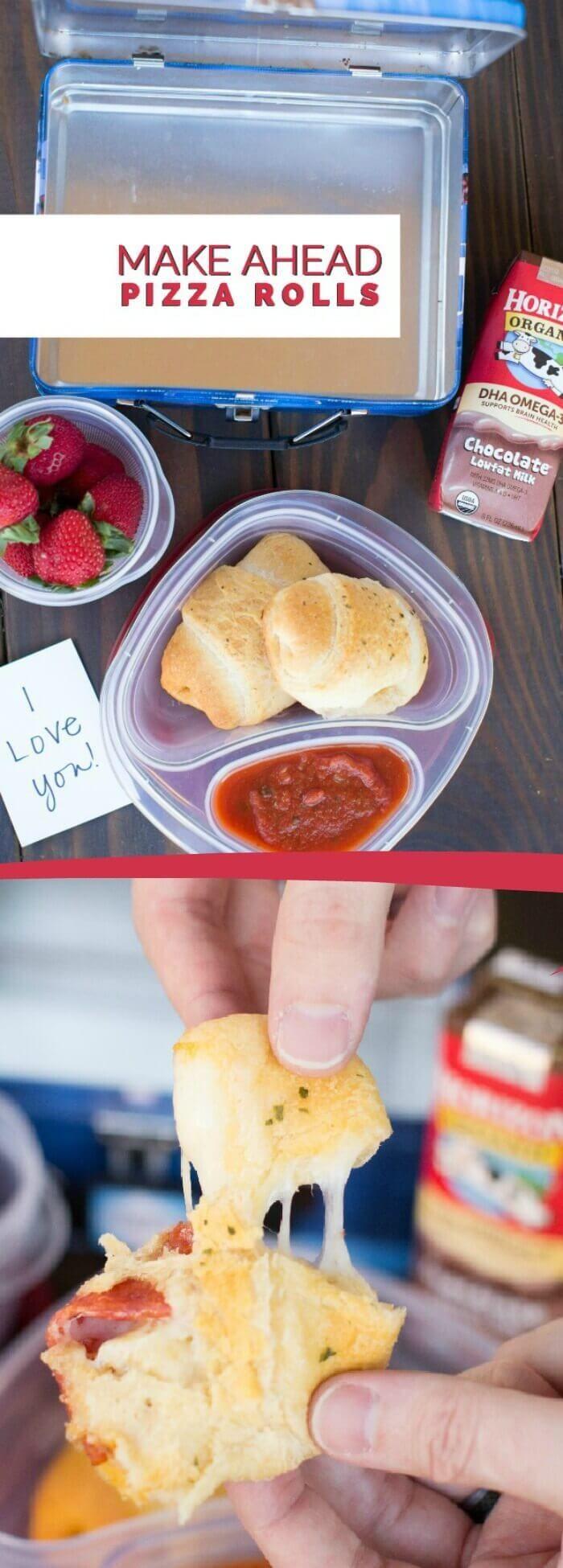 Kid's Lunch Ideas: Make Ahead Pizza Rolls via @spaceshipslb