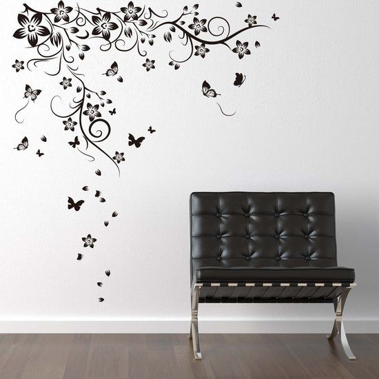 90 X 22 Large Vine Butterfly Wall Decals Removable: 79 Best Muurstickers Teksten Images On Pinterest