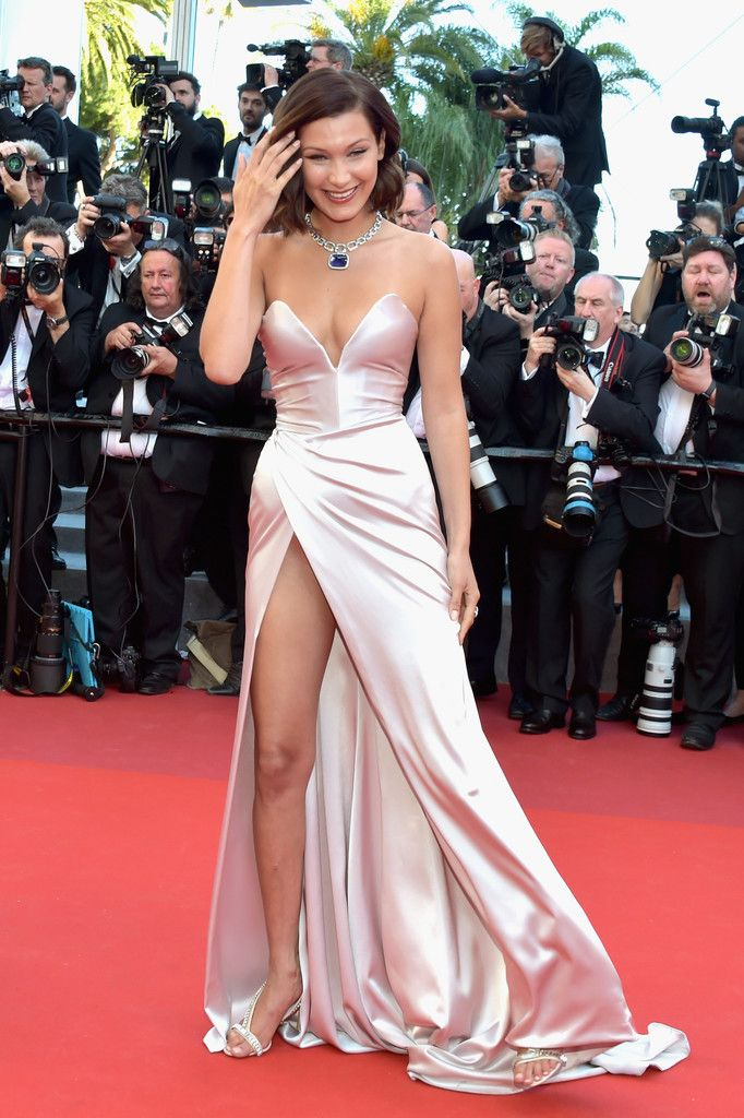 """""""Bella Hadid arriving at the opening of the 70th Annual Cannes Film Festival """""""